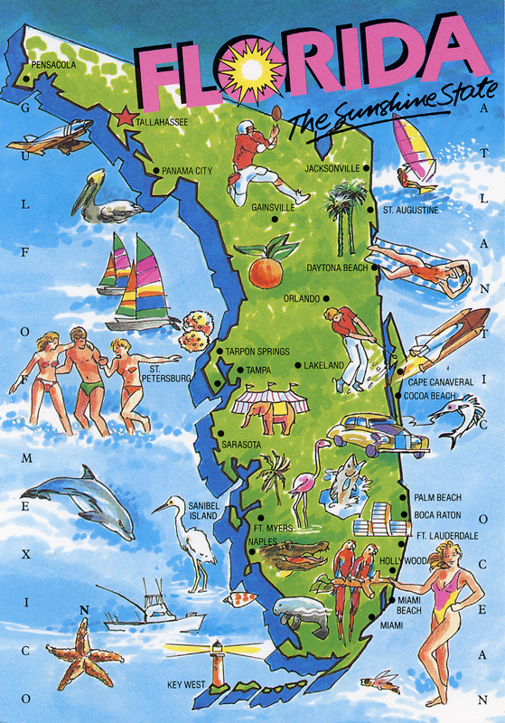 florida tourist map bnhspinecom